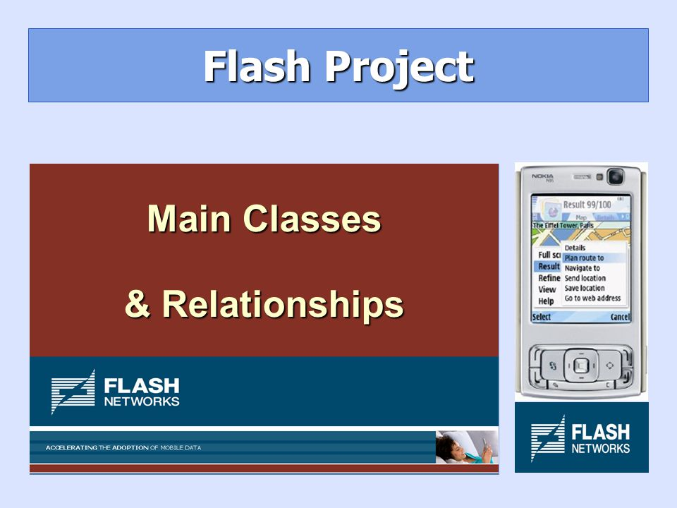 Flash Project Main Classes & Relationships