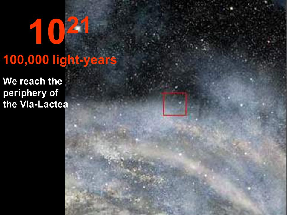 We continue our travel inside the Via-Lactea 10 20 10,000 light-years
