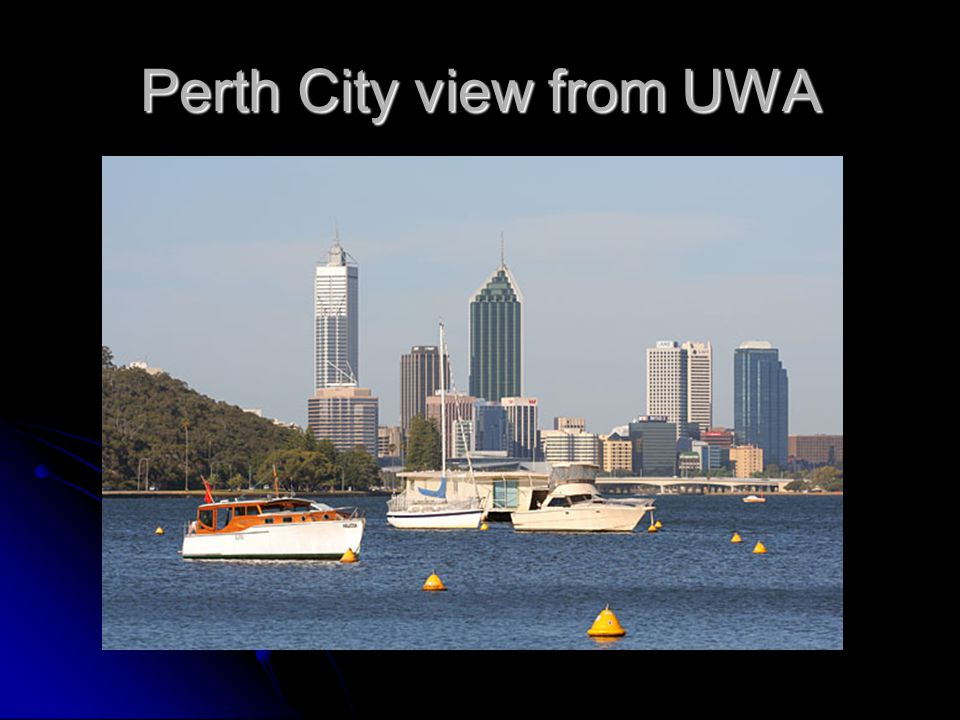 Perth City view from UWA