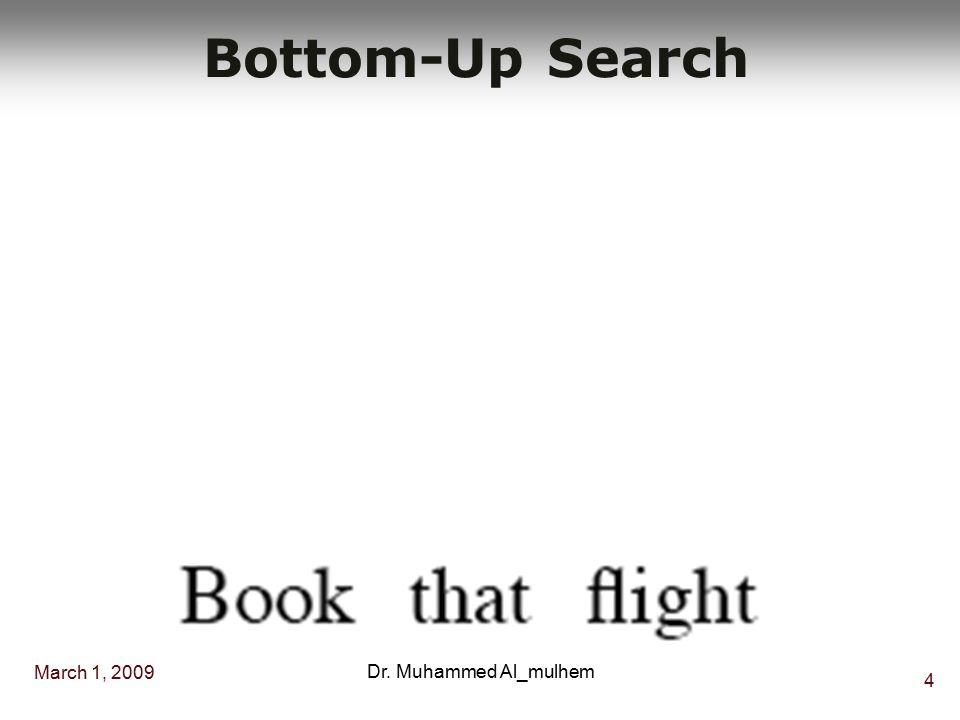 March 1, 2009 34 Dr. Muhammed Al_mulhem Example