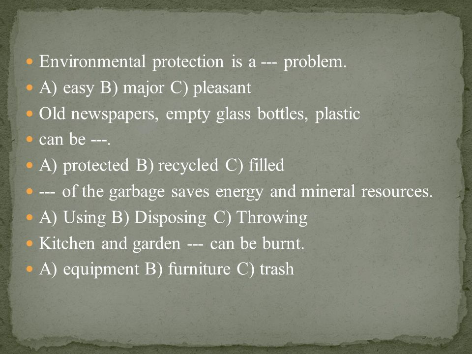 Environmental protection is a --- problem.