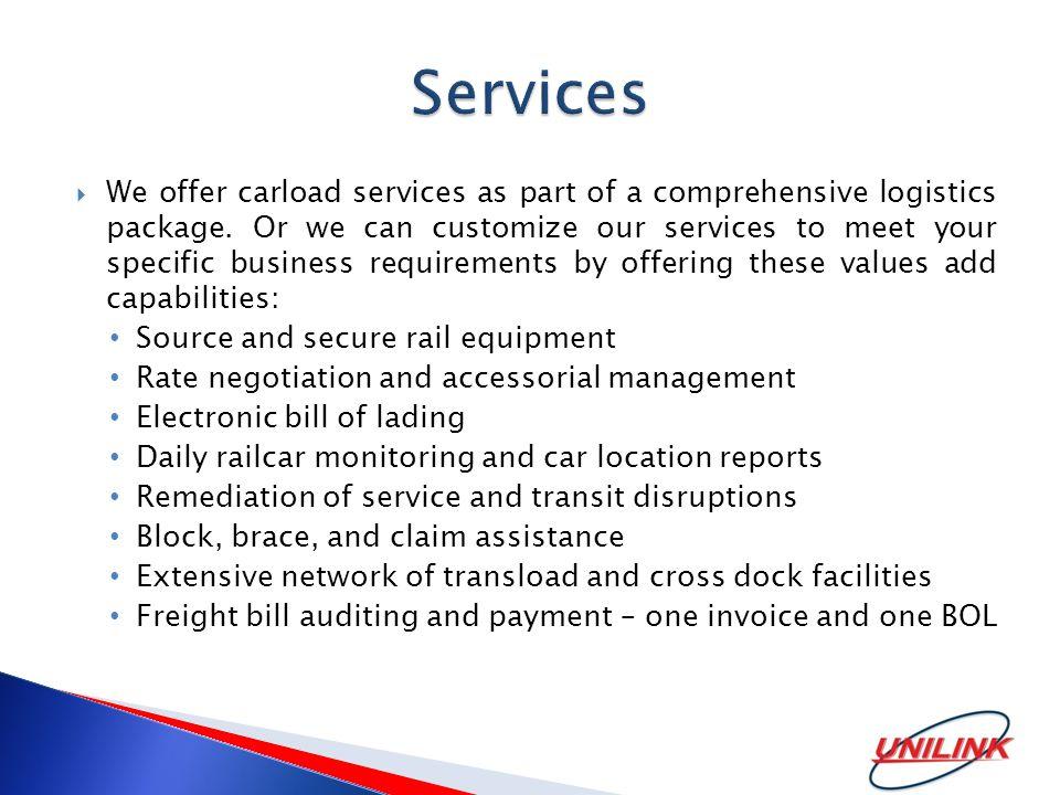 Sales: 214-445-8195  Operations: 956-242-7184  Administrative Office: 210-772-5474 www.unilinktransportation.com