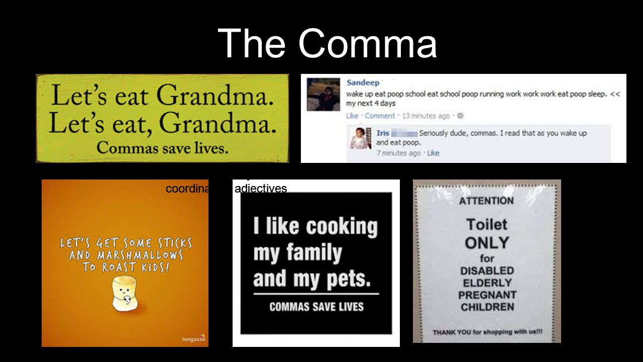 Grammar Concepts Week 4 Commas Ms.