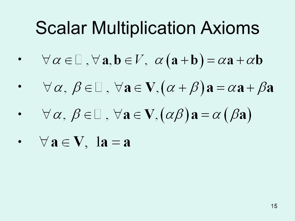 15 Scalar Multiplication Axioms