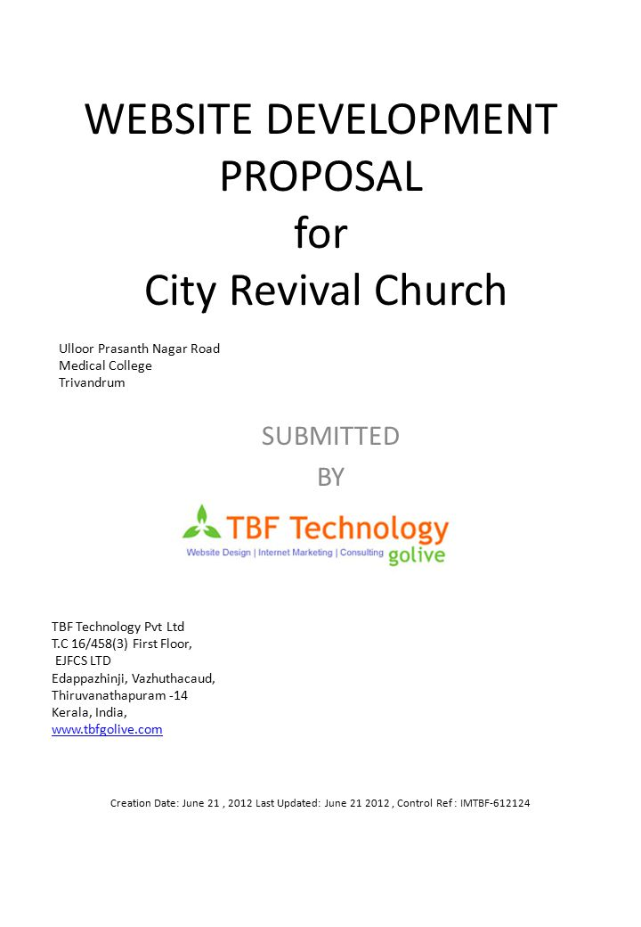 Acceptance of the Proposal CompanyCity Revival Church TBF Technology Name Title Signature Date