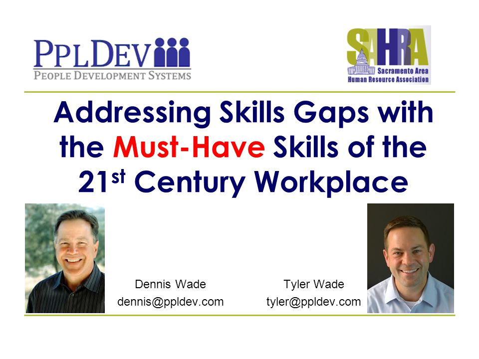 11 21 ST CENTURY SKILLS AND THE WORKPLACE A 2013 MICROSOFT PARTNERS IN LEARNING AND PEARSON FOUNDATION STUDY Respondents were nearly four times as likely to credit the skills they use for their work to outside activities rather than to the classroom.