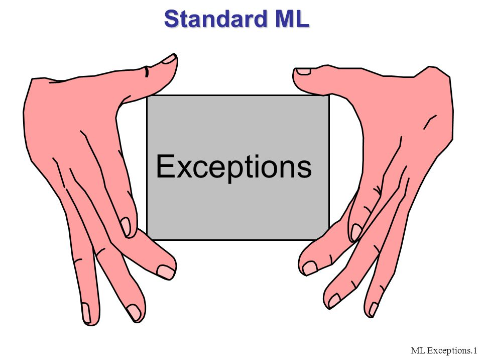 ML Exceptions.1 Standard ML Exceptions
