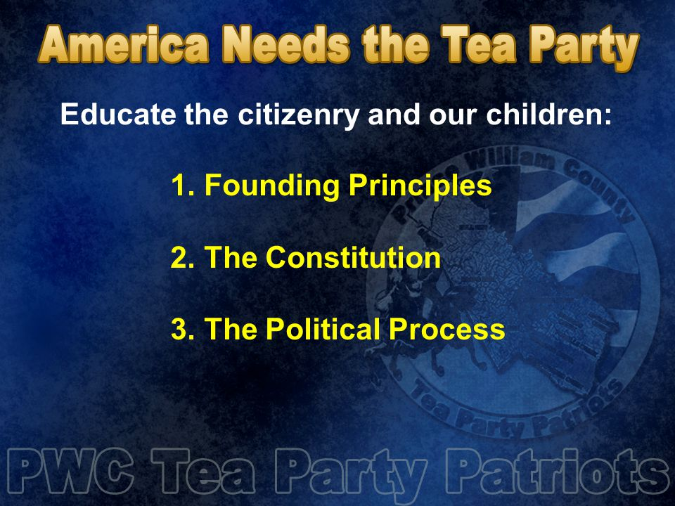 1.Founding Principles 2. The Constitution 3.