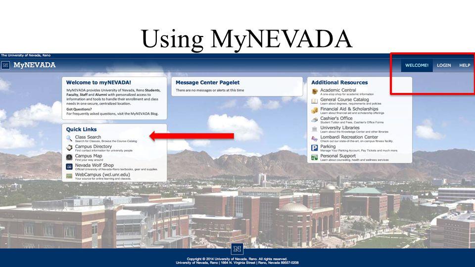 Using MyNEVADA
