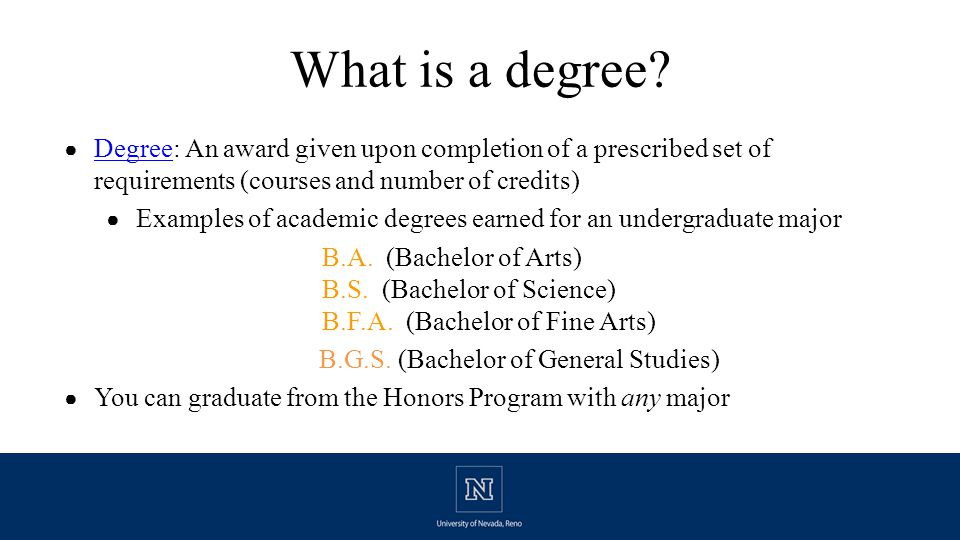 What is a degree.