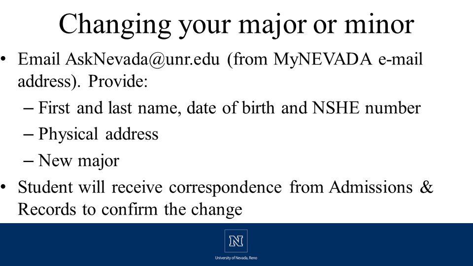Mandatory Summer Orientation www.unr.edu/orientation