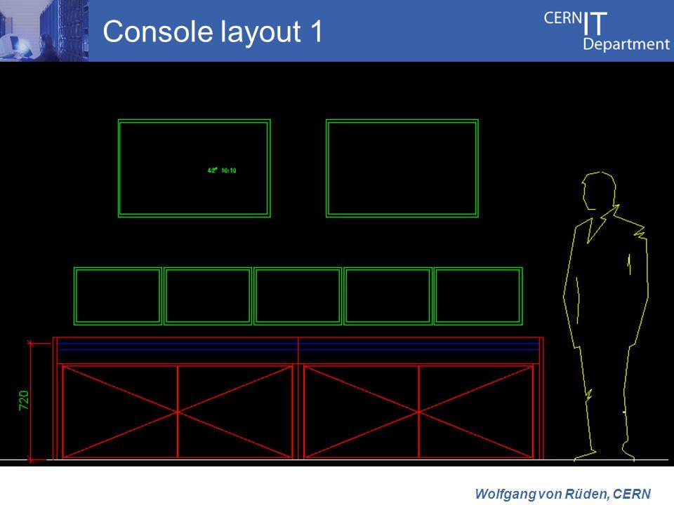 Console layout 1 Wolfgang von Rüden, CERN
