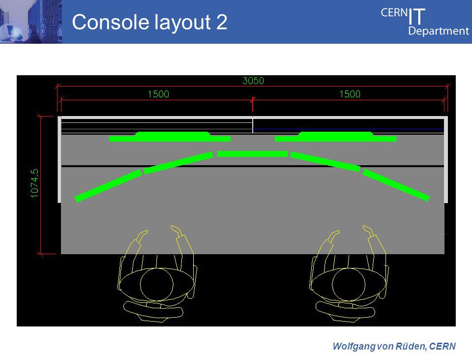 Console layout 2 Wolfgang von Rüden, CERN