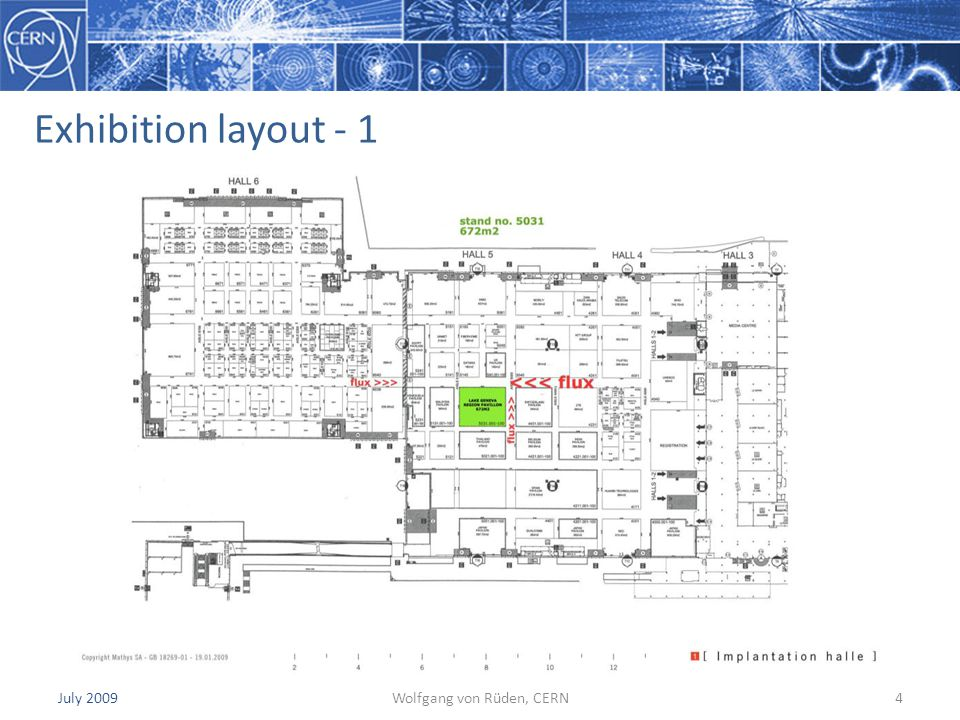 July 2009Wolfgang von Rüden, CERN4 Exhibition layout - 1