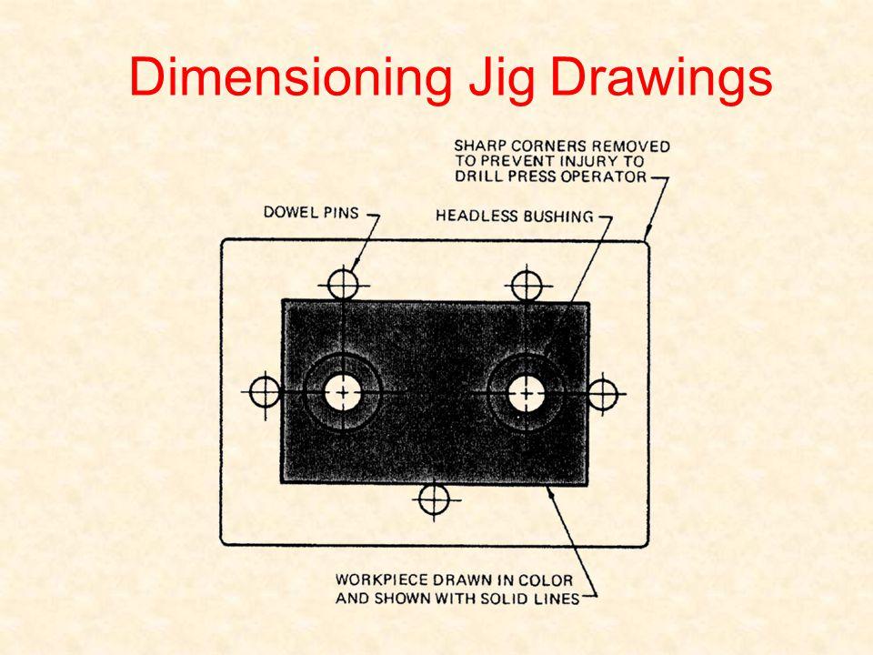 Dimensioning Jig Drawings