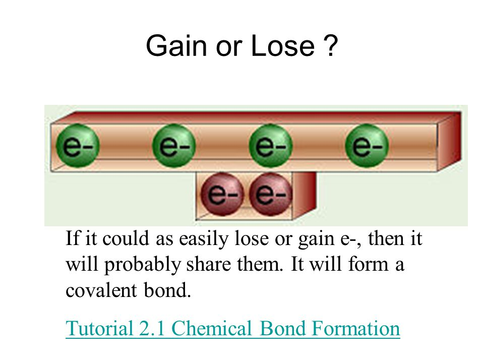 Gain or Lose . If it could as easily lose or gain e-, then it will probably share them.