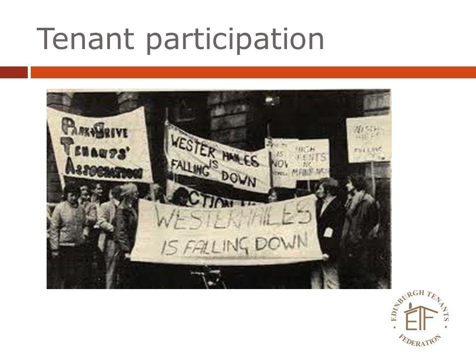 Tenant participation
