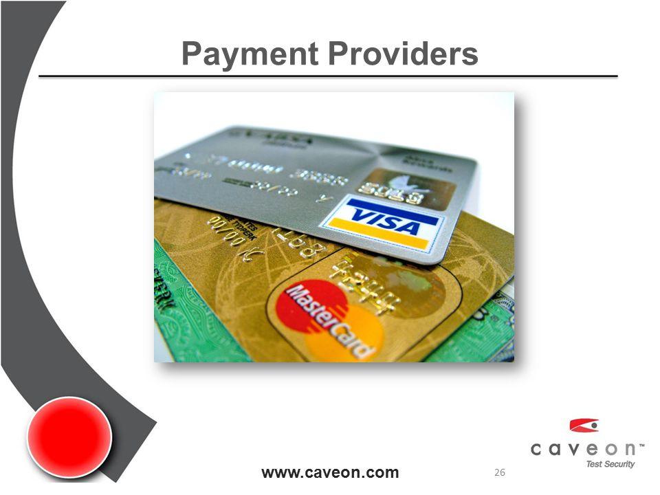 Payment Providers www.caveon.com 26