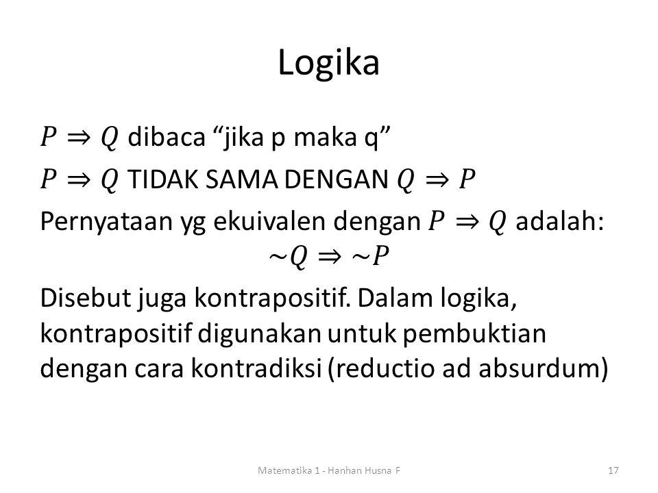 Logika Matematika 1 - Hanhan Husna F17