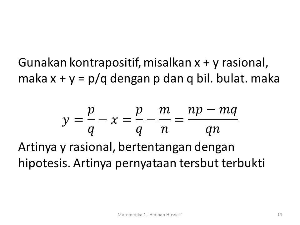 Matematika 1 - Hanhan Husna F19
