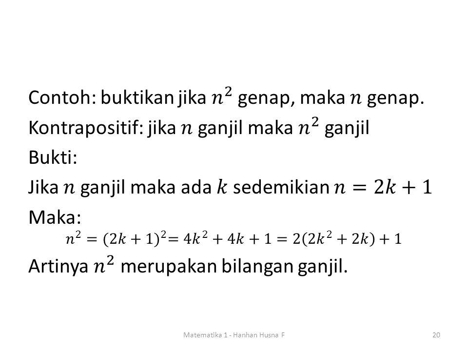 Matematika 1 - Hanhan Husna F20