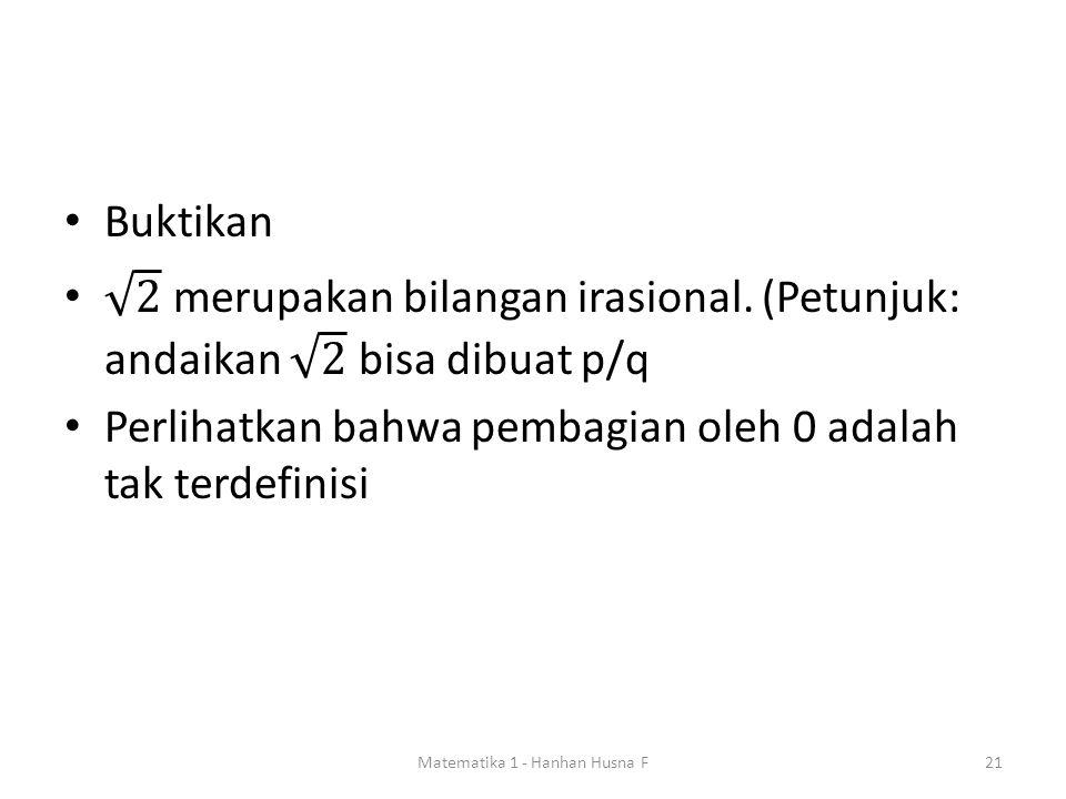 Matematika 1 - Hanhan Husna F21