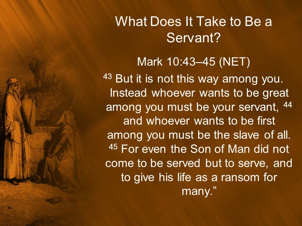 In Today's Lesson we will look at one of the great Servants of the Old Testament.