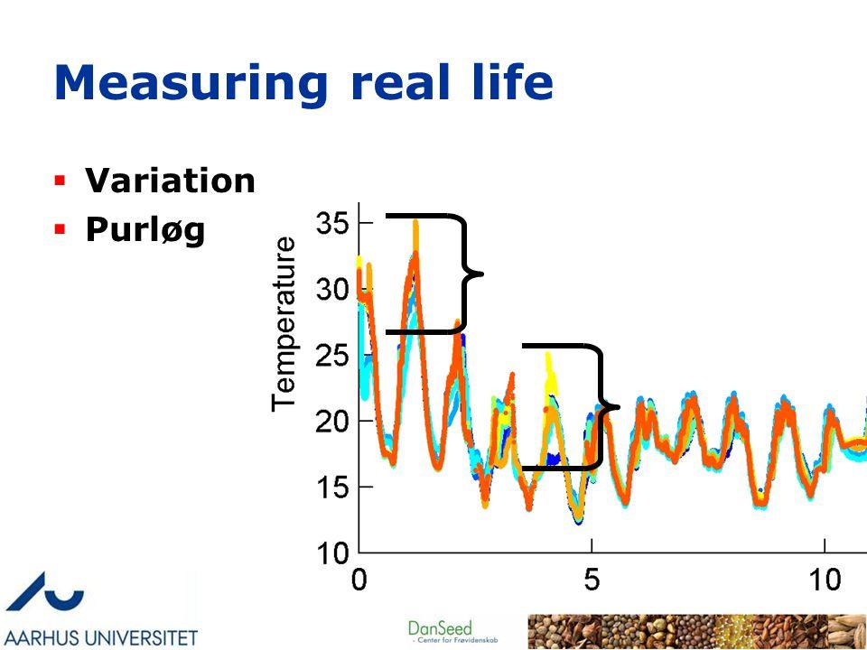 Measuring real life  Variation  Purløg