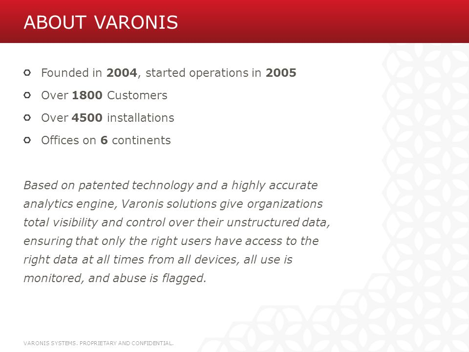 MOBILE APPS VARONIS SYSTEMS. PROPRIETARY AND CONFIDENTIAL.