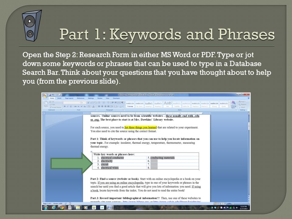 Open the Step 2: Research Form in either MS Word or PDF.