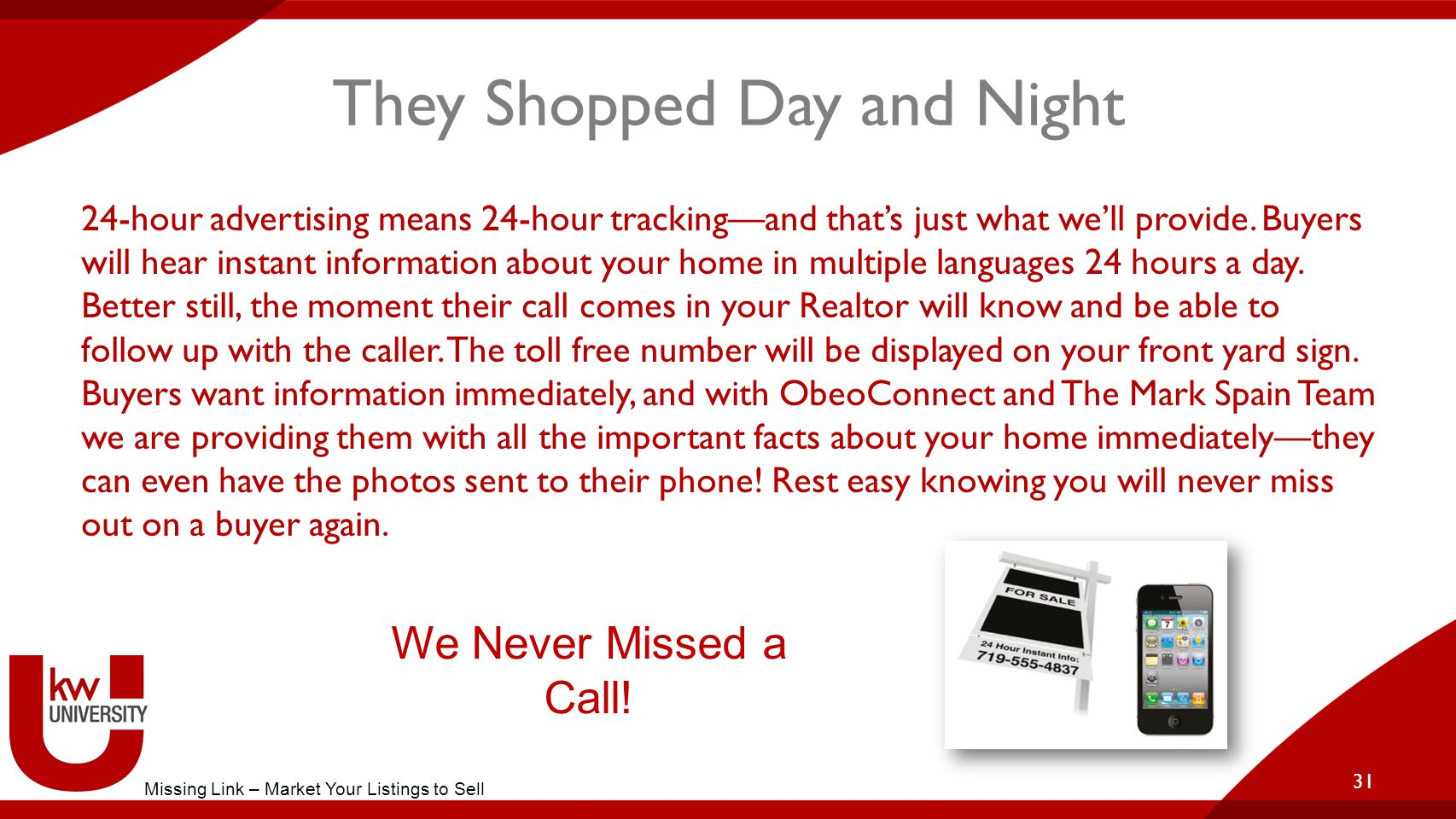 They Shopped Day and Night 24-hour advertising means 24-hour tracking—and that's just what we'll provide.