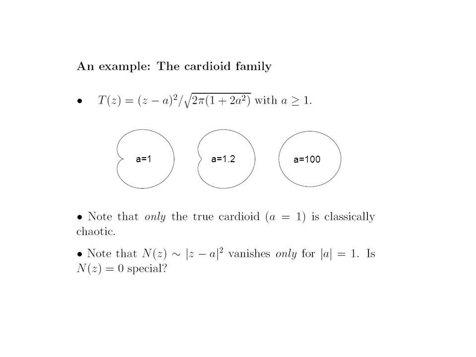 a=1a=1.2 a=100