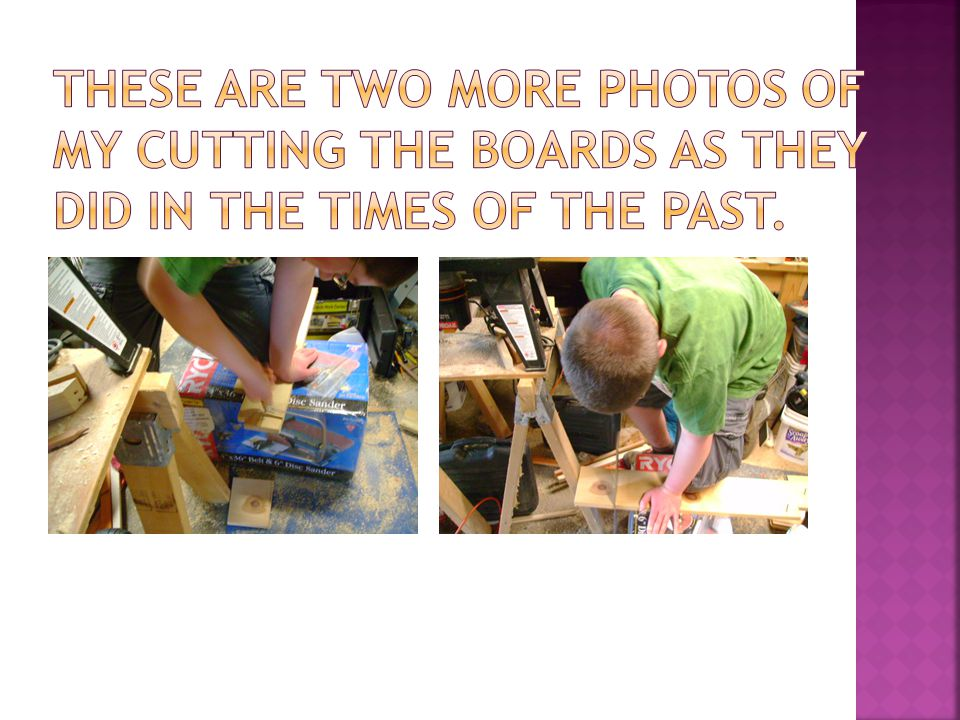  Here, I am hammering a nail into a board, which is one of the practices of carpentry that has to be demonstrated for the badge.