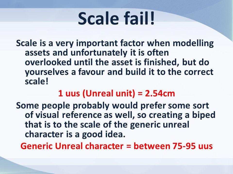 Scale fail.