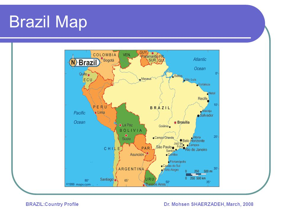 Dr. Mohsen SHAERZADEH, March, 2008BRAZIL:Country Profile Energy Market Background
