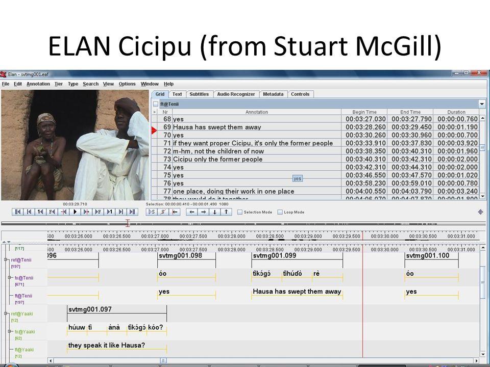 ELAN Cicipu (from Stuart McGill)
