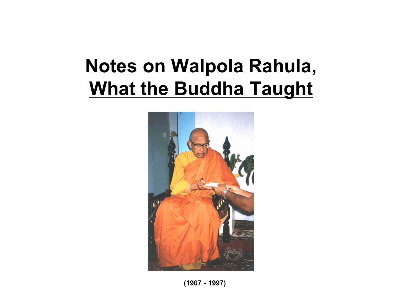 The Buddha on Freedom and Determinism According to the Buddha's concept of conditioned genesis (what Thich Nhat Hanh calls interbeing ), nothing exists as a separate individual; everything exists in relation to others, interdependently.