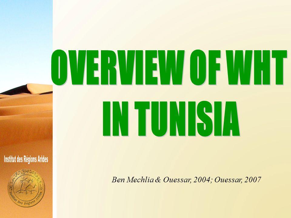 Ben Mechlia & Ouessar, 2004; Ouessar, 2007