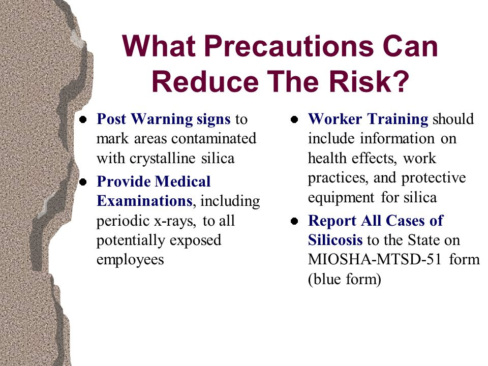 What Precautions Can Reduce The Risk.
