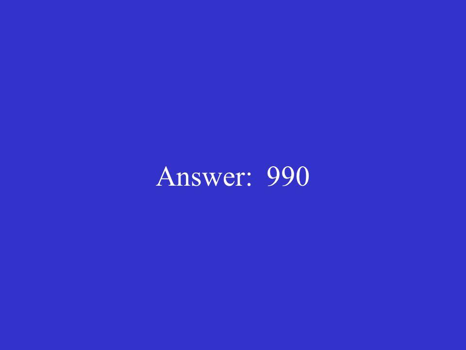 Answer: 990