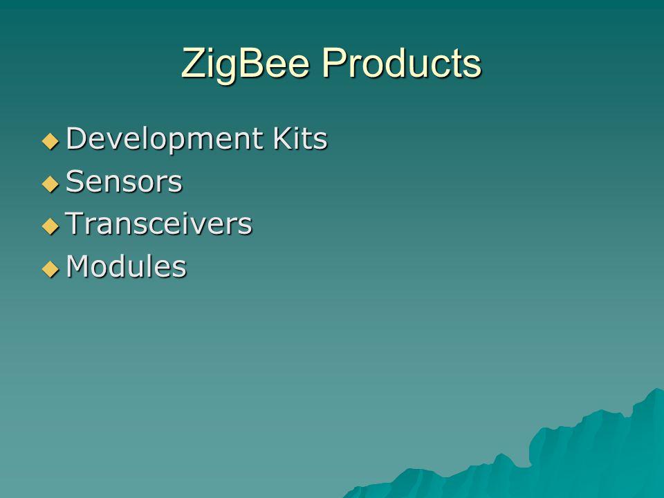 ZigBee Products  Development Kits  Sensors  Transceivers  Modules