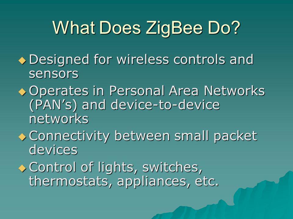 What Does ZigBee Do.