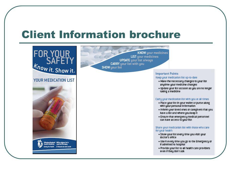 Client Information brochure
