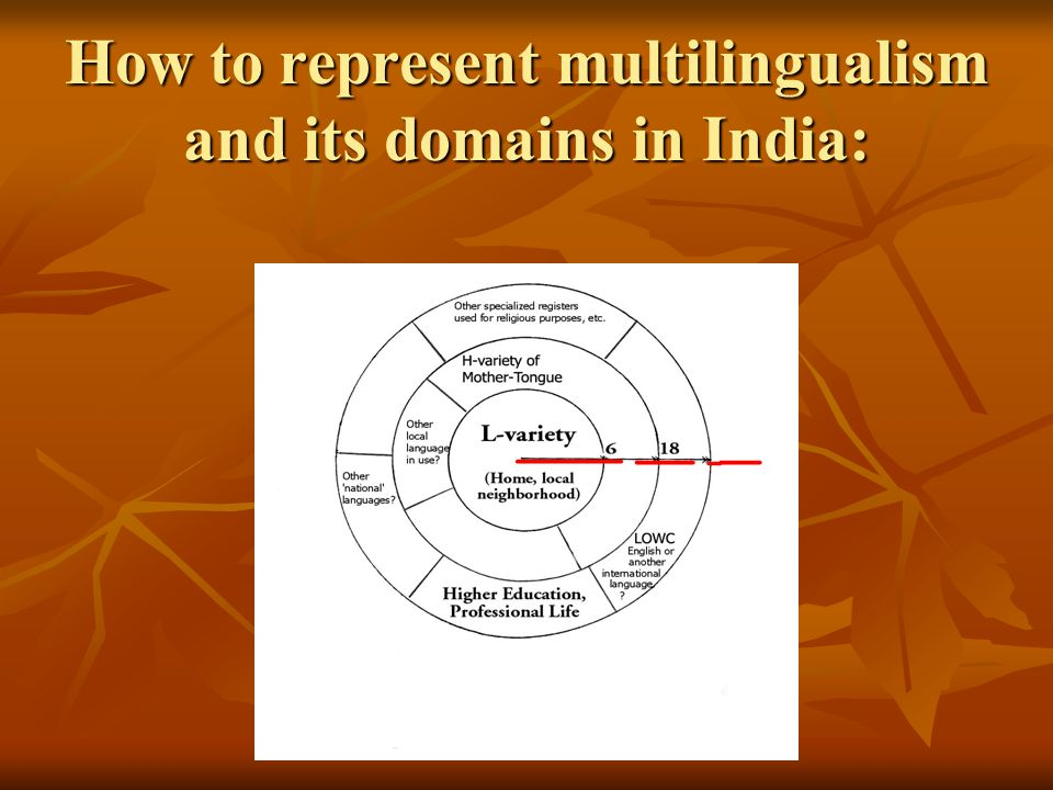 How to represent multilingualism and its domains in India: