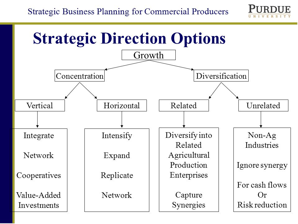 Strategic Business Planning for Commercial Producers Strategic Direction Options Delay Pause Decision Trigger No ChangeProfit
