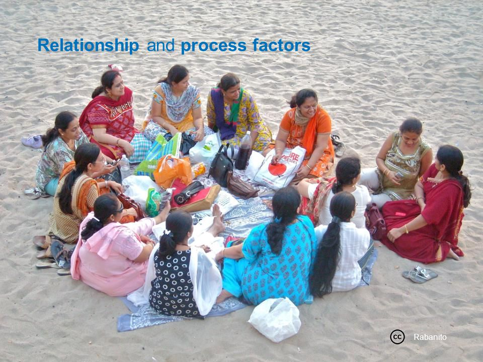 Relationship and process factors Rabanito Relationship and process factors