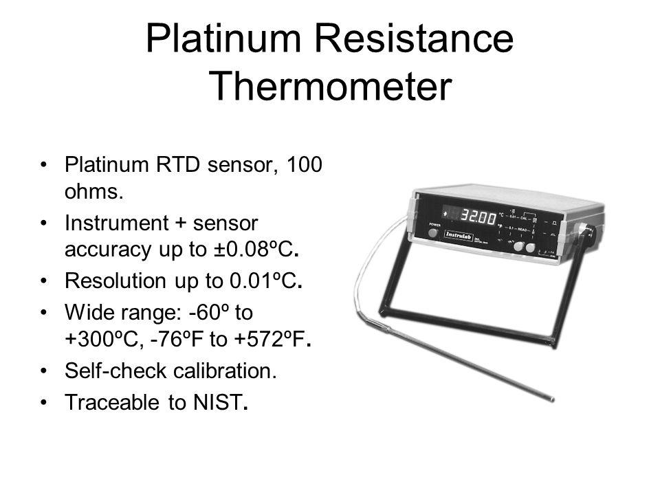 Platinum Resistance Thermometer Platinum RTD sensor, 100 ohms.