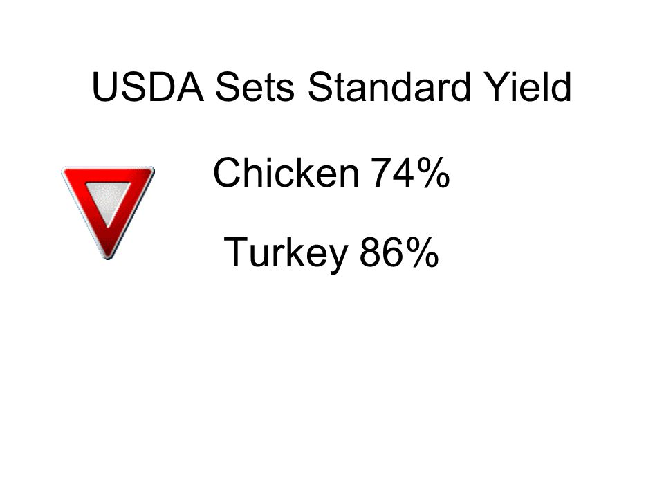 Standard Yield Advantages Variables are eliminated or replaced with fixed values Truckload is always 36,000 lbs.