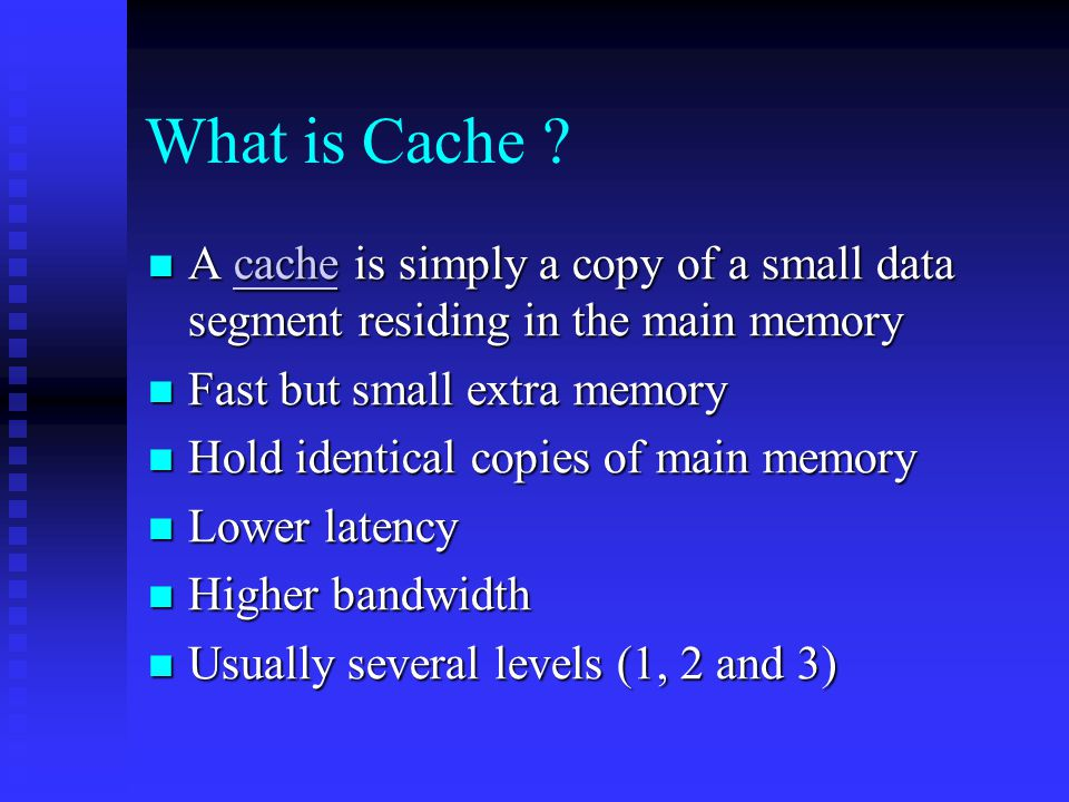 Why cache is important.Old days: CPUs clock frequency was the primary performance indicator.