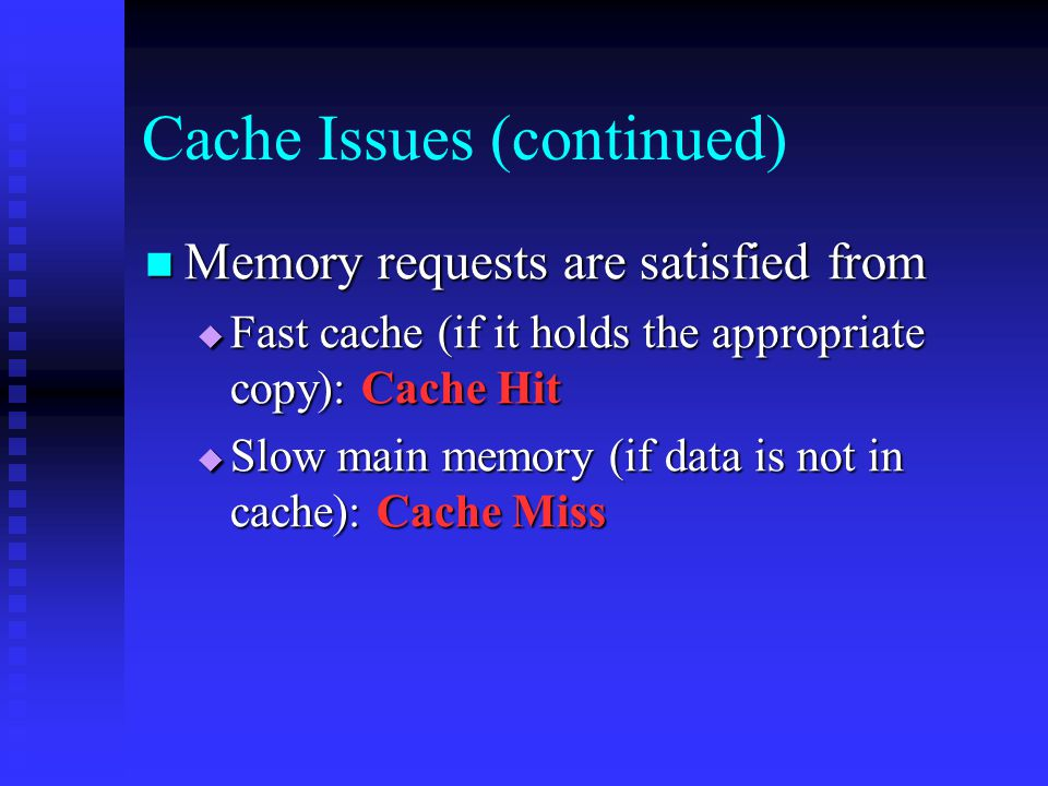 How Cache is Used.